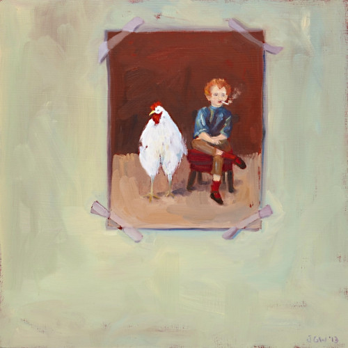 The Growing Boy, 2014, Oil on board, 40x40cm