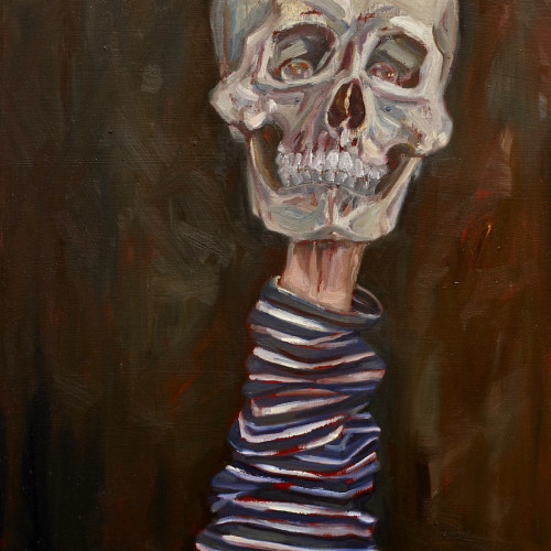 Who Remembers Him?, 2011, Oil on board, 40x60cm