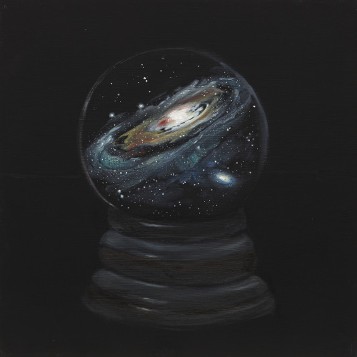 A Close Relationship to the Universe, III, 2013, Oil on board, 40x40cm