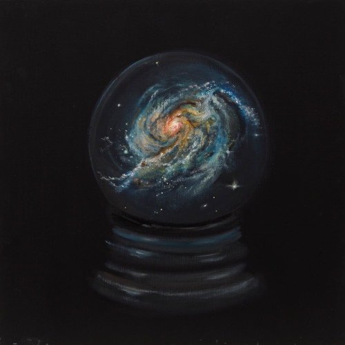 A Close Relationship to the Universe, II, 2013, Oil on board, 40x40cm