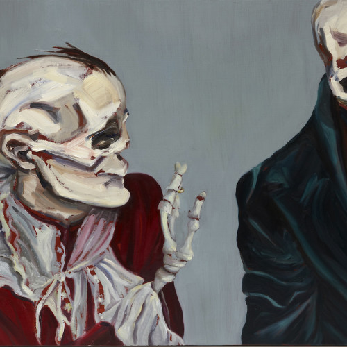 Thoughts Too Deep For Tears, 2011, Oil on board, 70x50cm