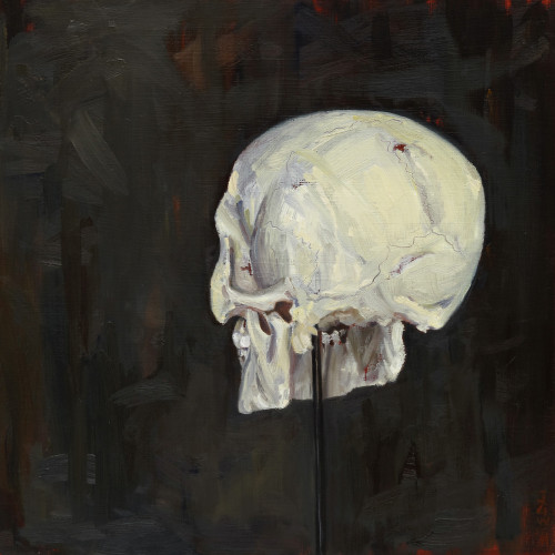 The Backward Glance, 2012, Oil on board, 40x40cm