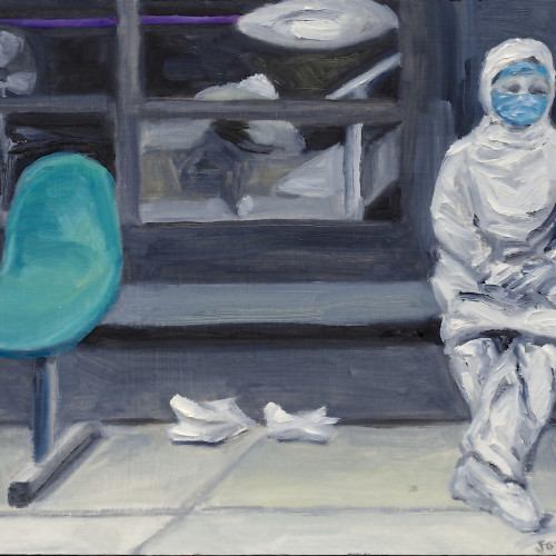 Which Was The Good News?, 2012, Oil on board, 20x23cm
