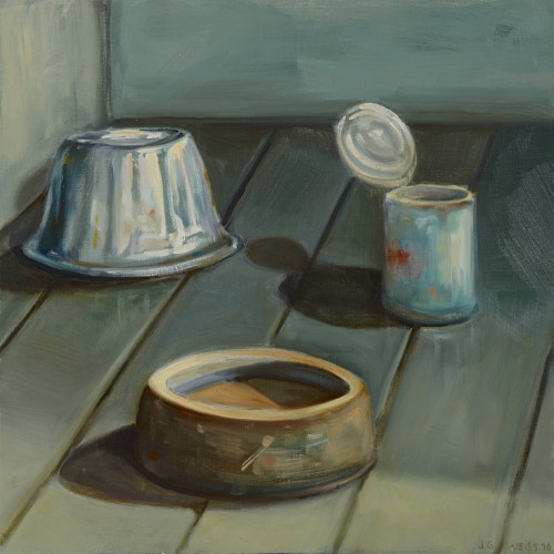 Things As They Are (The Last Supper), 2010, Oil on board, 40x40cm